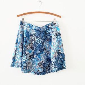 Floral Paisley Skater Skirt
